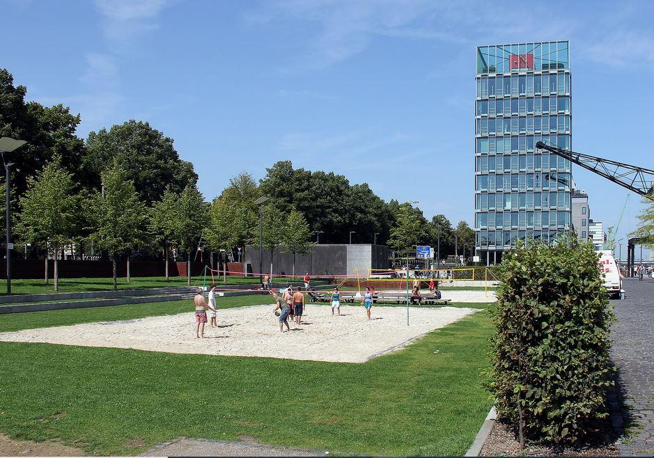 Rheinauhafen Köln Beachvolleyball